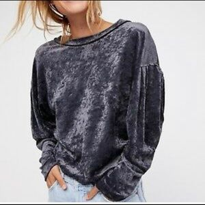 New Free People velvet pullover